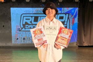 RUNUPラナップ20191102一般ソロ優勝manyoung
