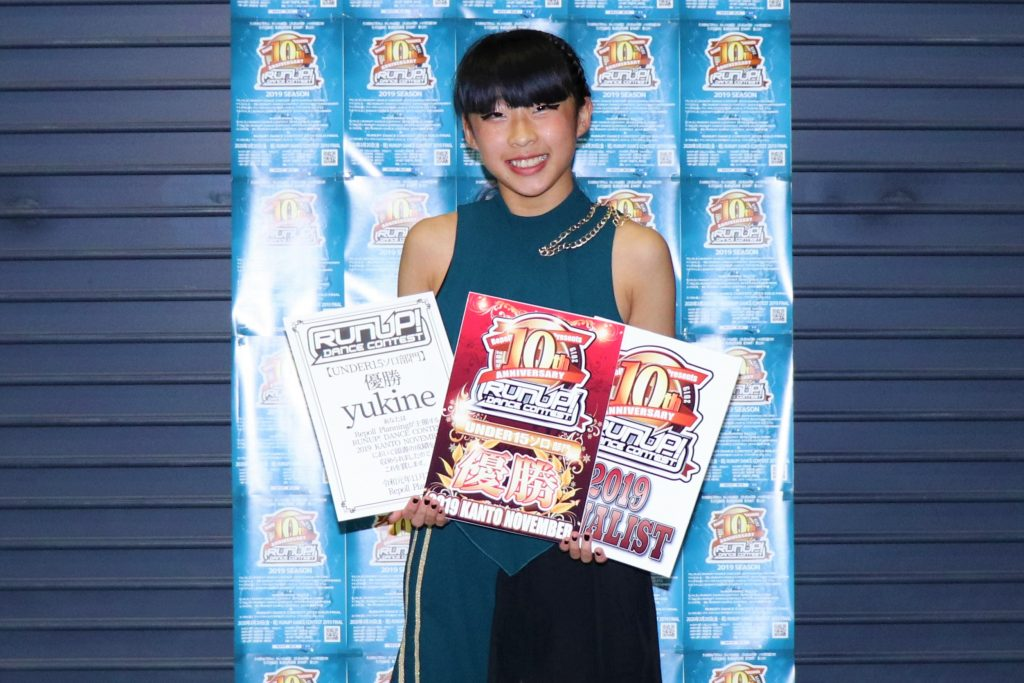 RUNUPラナップ20191123UNDER15ソロ優勝yukine