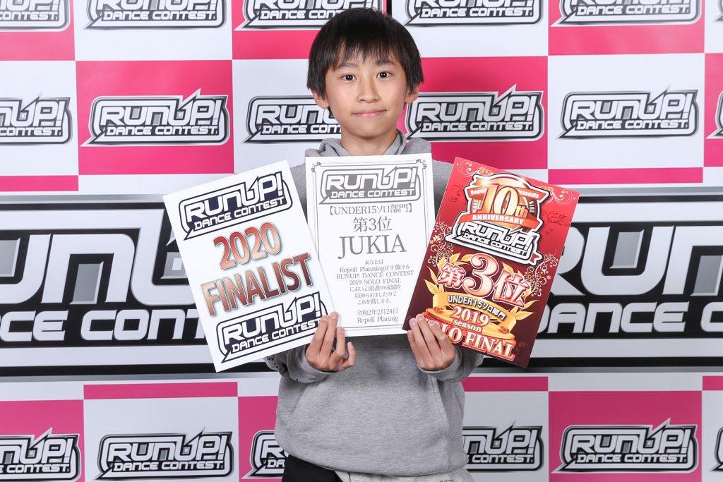 RUNUPラナップFINAL20200224UNDER15ソロ第3位JUKIA