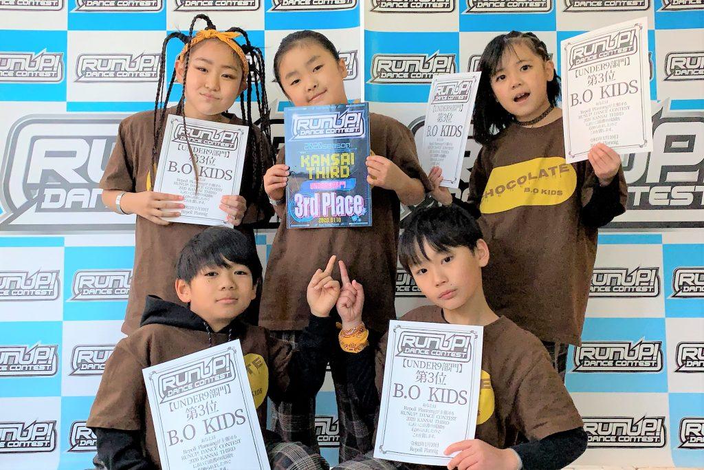 RUNUP 2020 KANSAI THIRD UNDER9 第3位 B.O KIDS