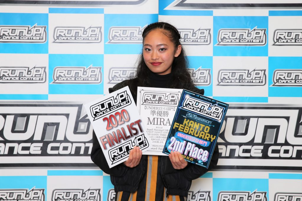 RUNUP 2020 KANTO FEBRUARY UNDER15ソロ 準優勝 MIRA