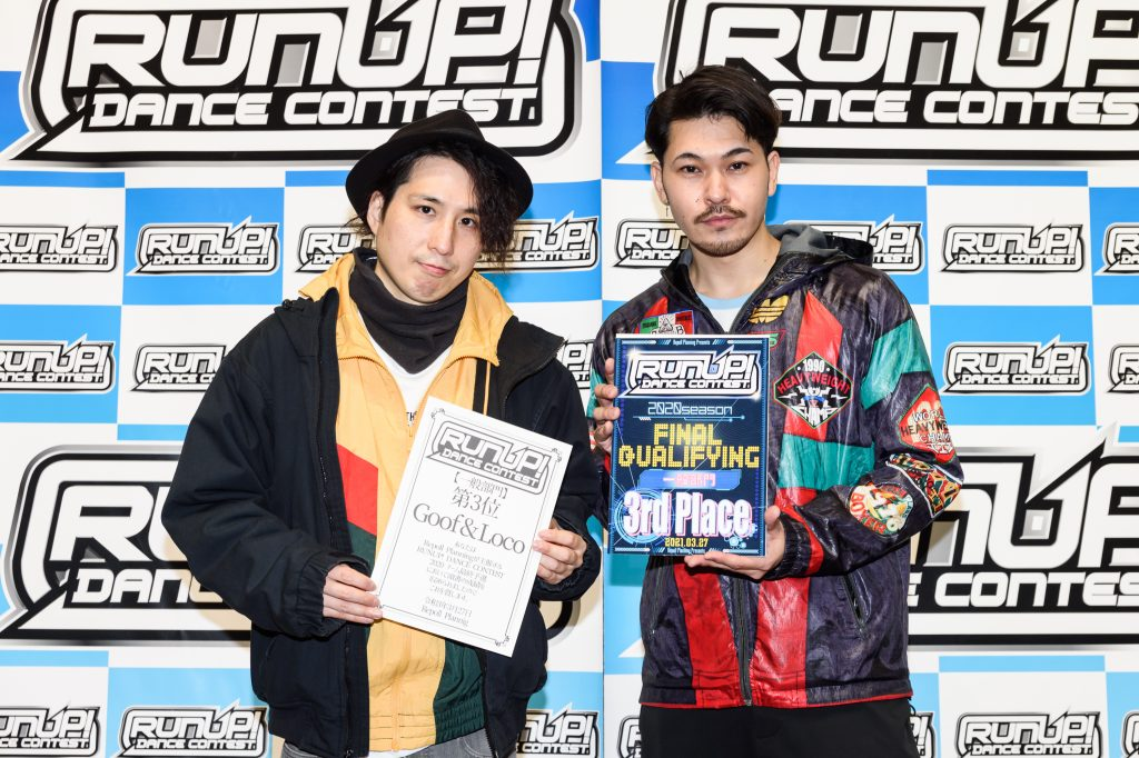RUNUP 2020 チーム最終予選 一般 第3位 Goof&Loco