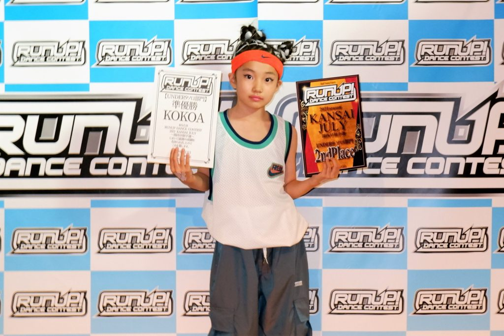RUNUP 2021 KANSAI JULY UNDER9ソロ 準優勝 KOKOA
