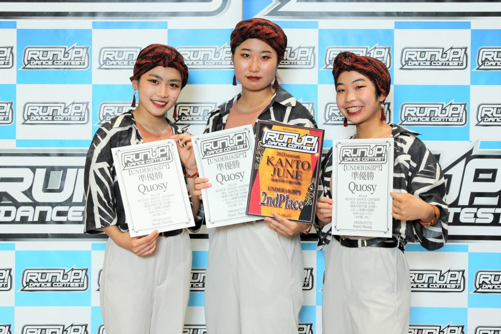 RUNUP 2021 KANTO JUNE UNDER18 準優勝 Quosy